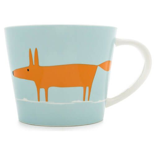 Scion Living Mr Fox Duck Egg & Orange 525ml Large Mug