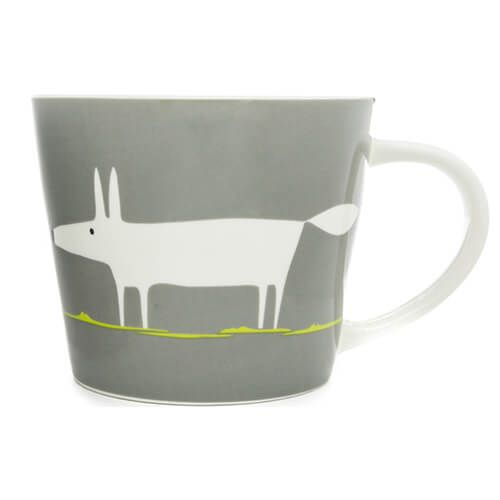 Scion Living Mr Fox Charcoal & Lime 525ml Large Mug