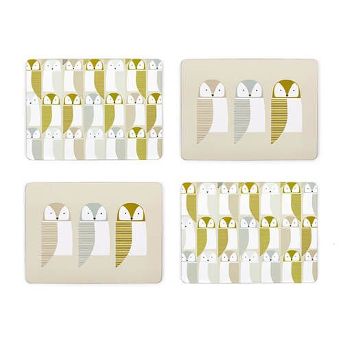 Scion Living Barnie Owl Set Of 4 Placemats