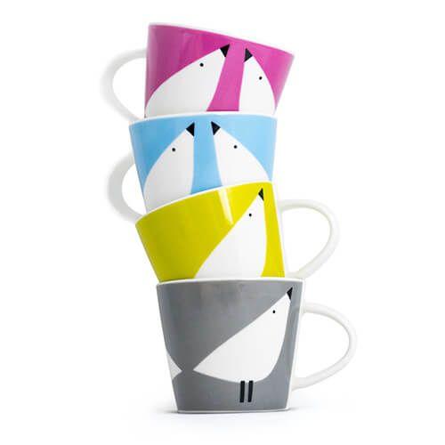 Scion Living Lintu Set Of 4 Espresso Cups
