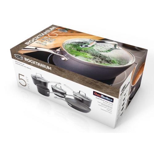 Stellar Rocktanium 5 Piece Cookware Set