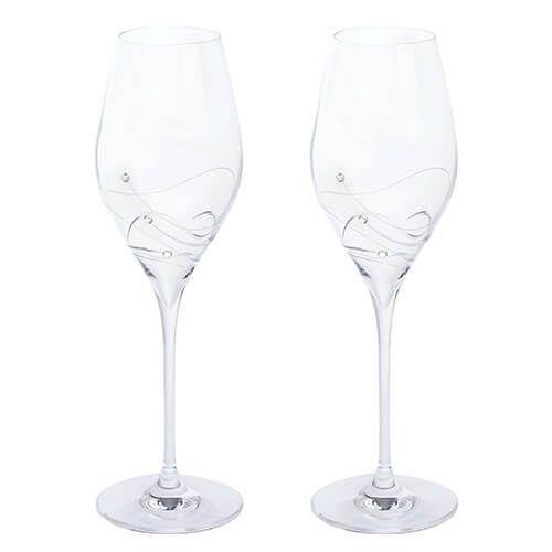 Dartington Glitz Swarovski Elements Set Of 2 Prosecco Glasses