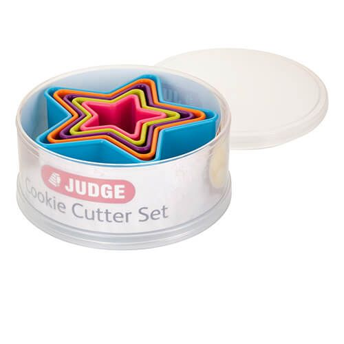 Judge Coloured Star Cutters (Set Of Five)