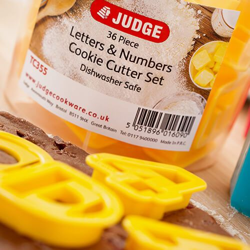 Judge Coloured Letters & Numbers Cutters (Set Of 36)