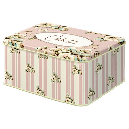 Katie Alice Cottage Flower Set Of 2 Rectangular Cake Tins