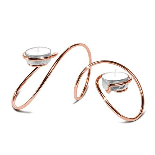 Black + Blum T-Loop Copper Tea Light Holder