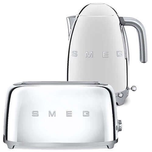 Smeg 4 Slice Toaster And Smeg Variable Temperature 3d Logo