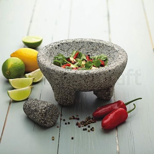World of Flavours Spice Granite Mortar and Pestle 20 x 10cm