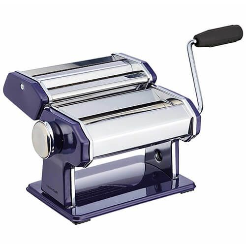 World of Flavours Italian Deluxe Double Cutter Pasta Machine Blue