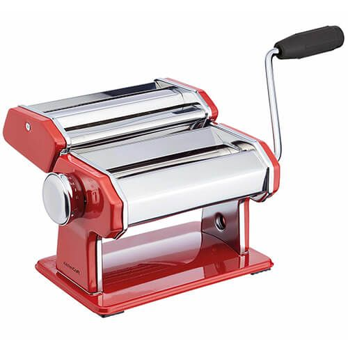 World of Flavours Italian Deluxe Double Cutter Pasta Machine Red