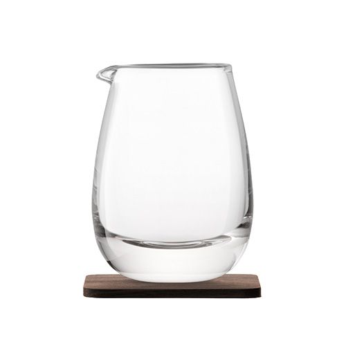 LSA Whisky Islay Jug 300ml Clear With Walnut Coaster