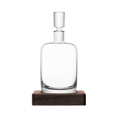 LSA Whisky Renfrew Decanter 1.1L Clear With Walnut Base