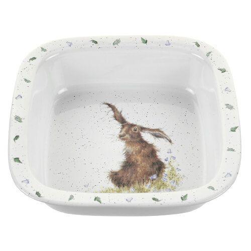 Wrendale Designs Square Dish Hare
