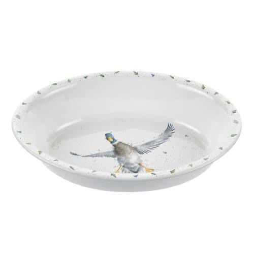 Wrendale Designs Oval Rim Dish Duck
