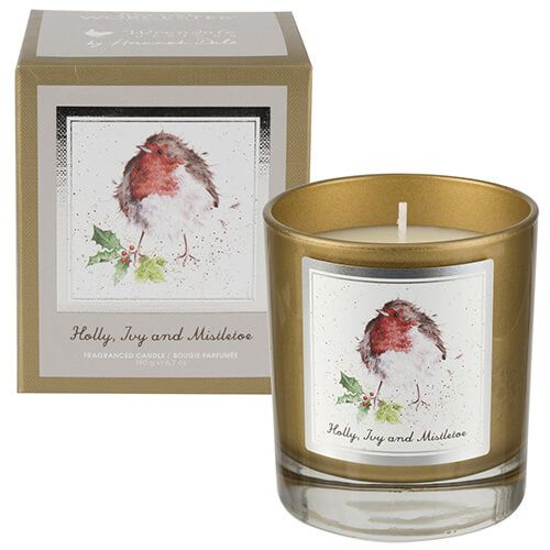 Wrendale Designs Fallen Leaves Glass Candle Gift Boxed