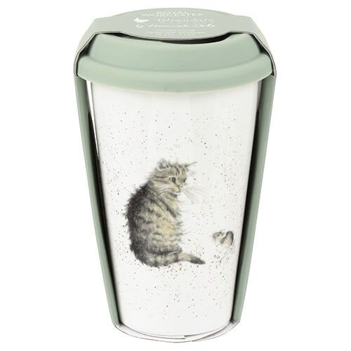 Wrendale Designs Travel Mug Cat & Mouse 6 for 5