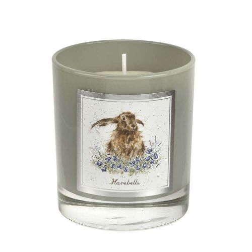 Wrendale Designs Harebells Hare Glass Candle Gift Boxed