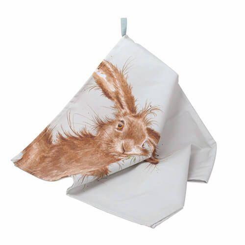 Wrendale Designs Tea Towel Hare Design