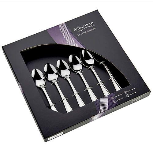 Arthur Price Classic Britannia Set of 6 Tea Spoons