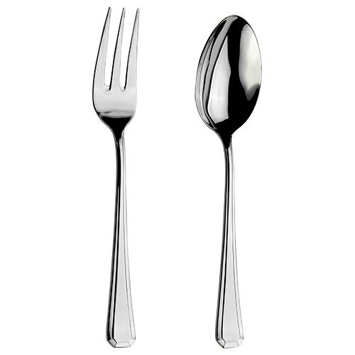 Arthur Price Classic Grecian Serving Spoon & Fork Set