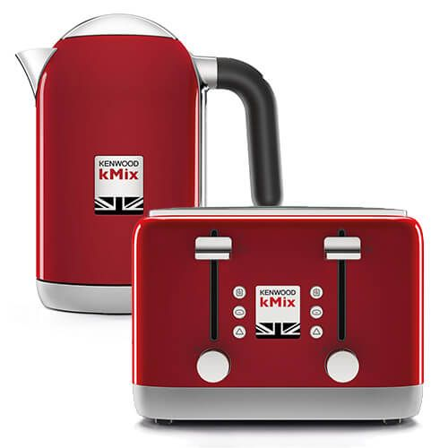 Kenwood kMix Kettle & Toaster Set Red