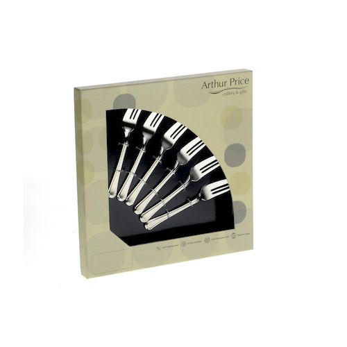 Arthur Price Classic Kings Set of 6 Pastry Forks