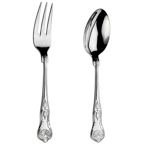 Arthur Price Classic Kings Serving Spoon & Fork Set