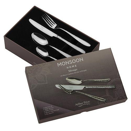 Arthur Price Monsoon Mirage 24 Piece Cutlery Gift Box Set