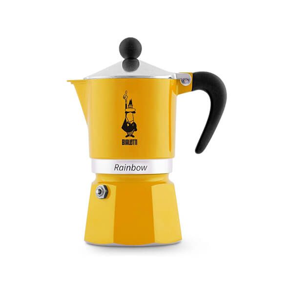Bialetti Rainbow 3 Cup Coffee Maker Yellow