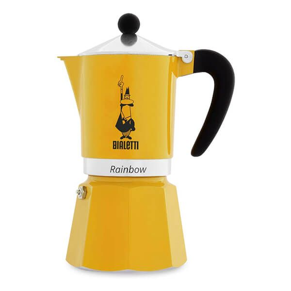 Bialetti Rainbow 6 Cup Coffee Maker Yellow