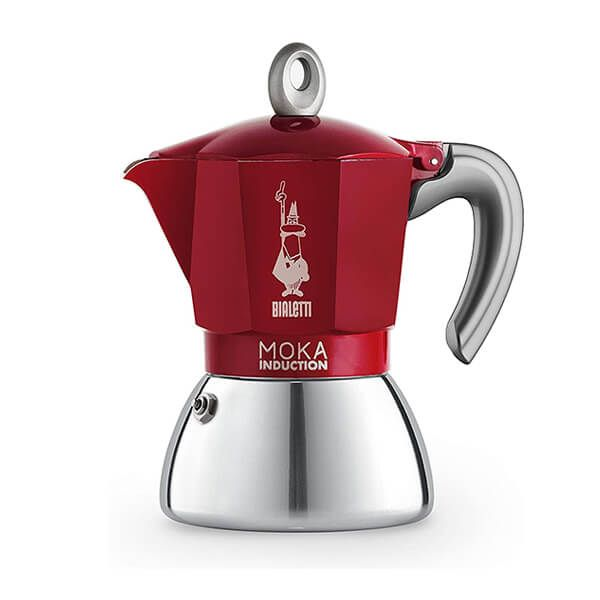 Bialetti Moka Induction 6 Cup Espresso Maker Red