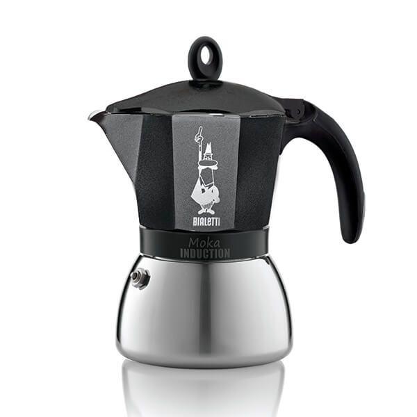 Bialetti Moka Induction 6 Cup Espresso Maker Black