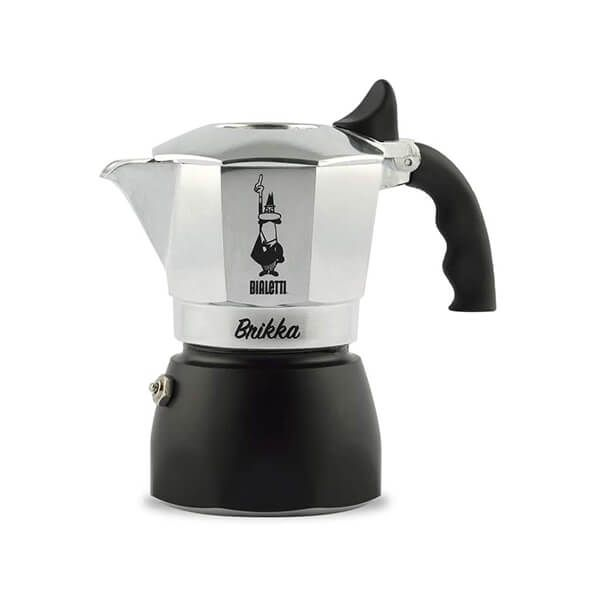 Bialetti Brikka 2 Cup Coffee Maker Black