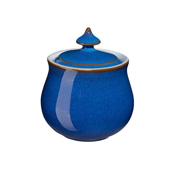 Denby Imperial Blue Covered Sugar Bowl