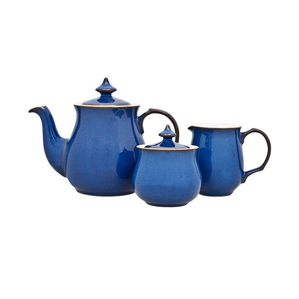 Denby Imperial Blue 3 Piece Tea Set