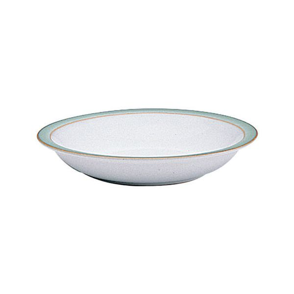 Denby Regency Green Shallow Rimmed Bowl