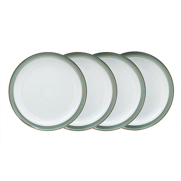 Denby Regency Green 4 Piece Dinner Plate Set