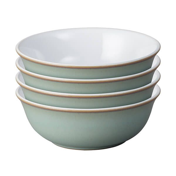 Denby Regency Green 4 Piece Cereal Bowl Set