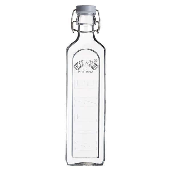 Kilner Square Clip Top Bottle 1L