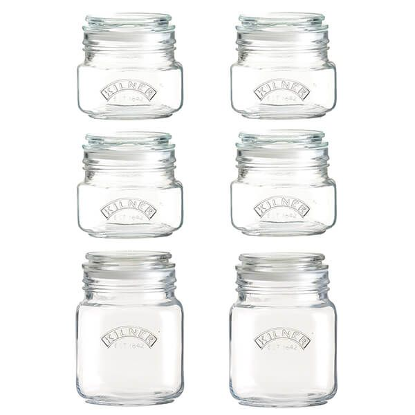 Kilner Set Of 6 Push Top Jar Set