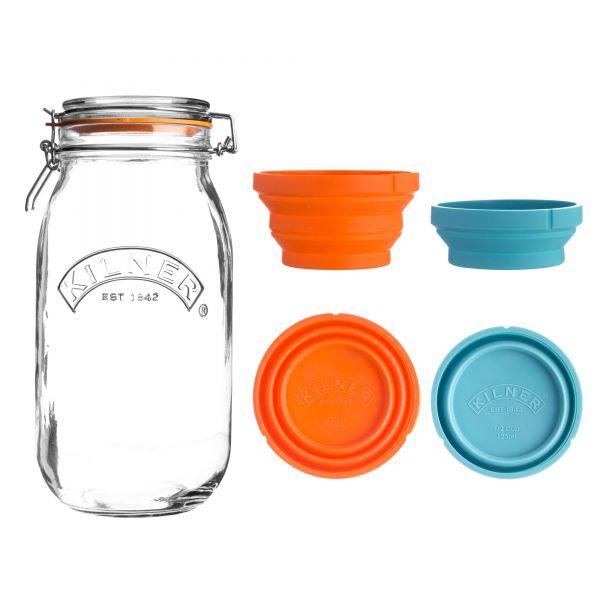 Kilner Measure And Store Jar Set 3 Litre