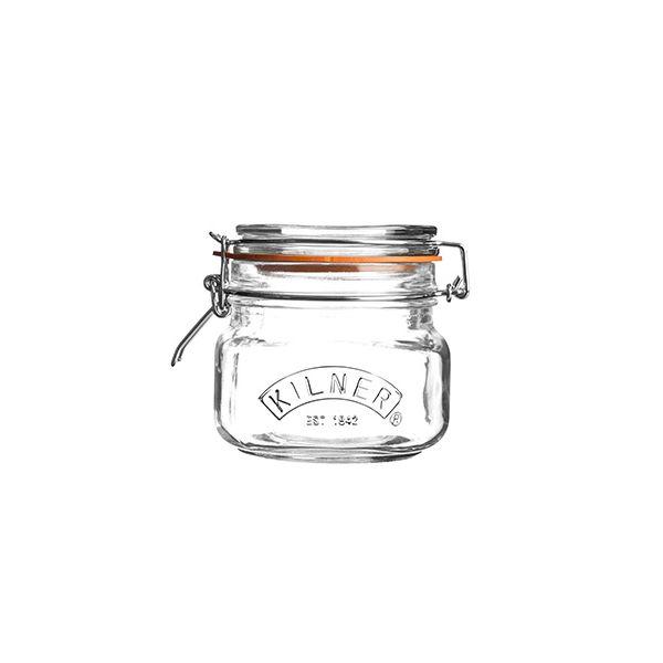 Kilner Clip Top Jar Square 0.5 Litre