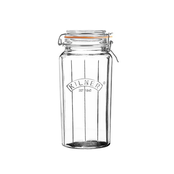 Kilner Facetted Clip Top Jar 1.8 Litre