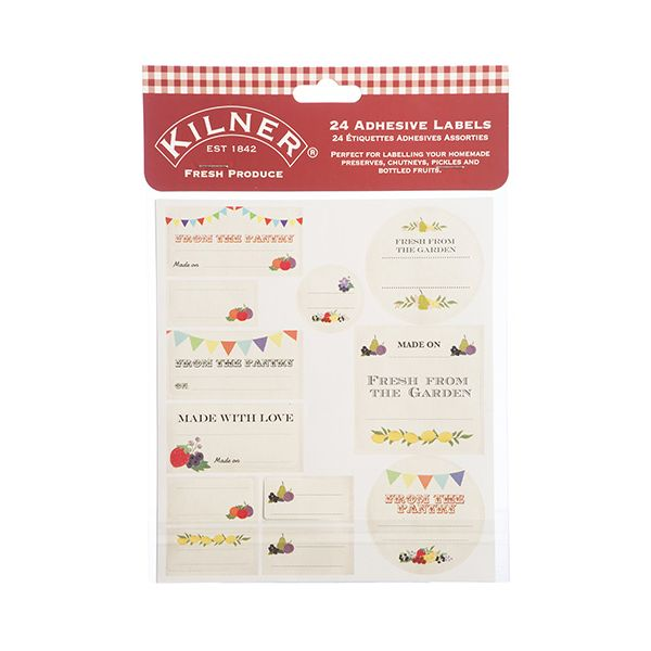 Kilner Pack Of 24 Fresh Produce Labels