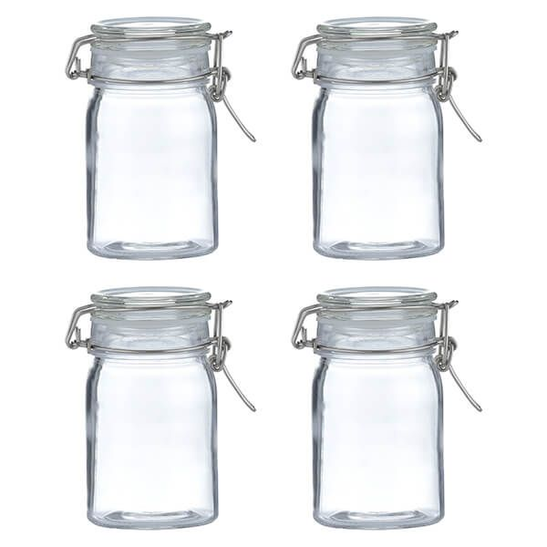 Kilner Clip Top Round Jar 270ml Set Of 4