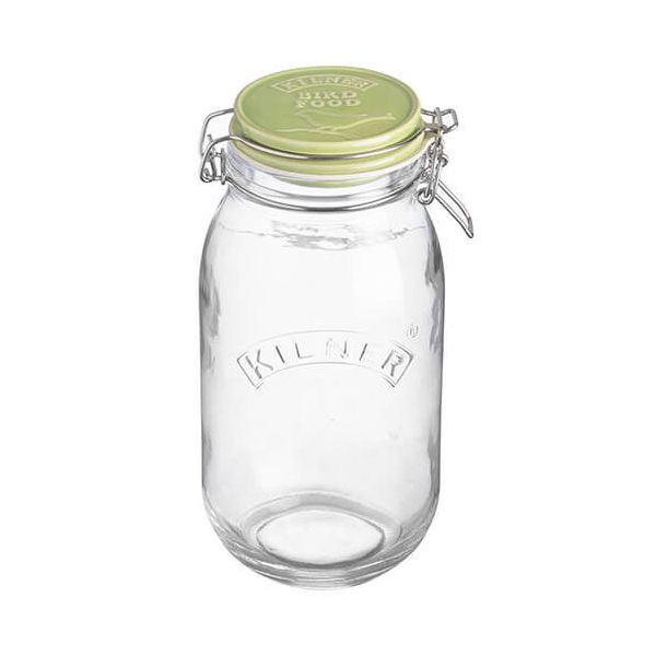 Kilner 2 Litre Ceramic Lid Round Clip Top Bird Food Jar