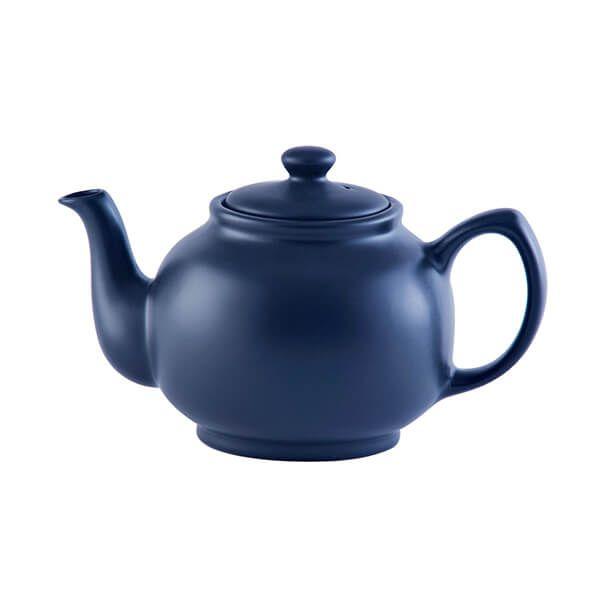 Price & Kensington Matt Navy Blue 6 Cup Teapot
