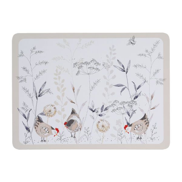 Price & Kensington Country Hens Set Of 4 Placemats