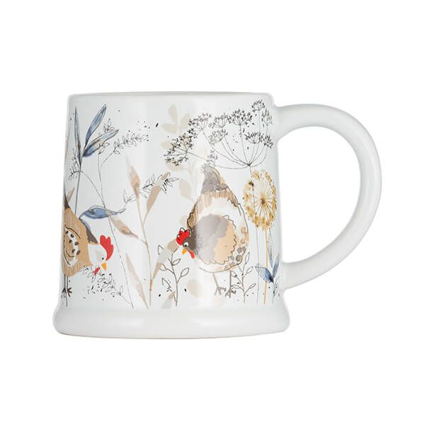 Price & Kensington Country Hens Footed Mug 385ml