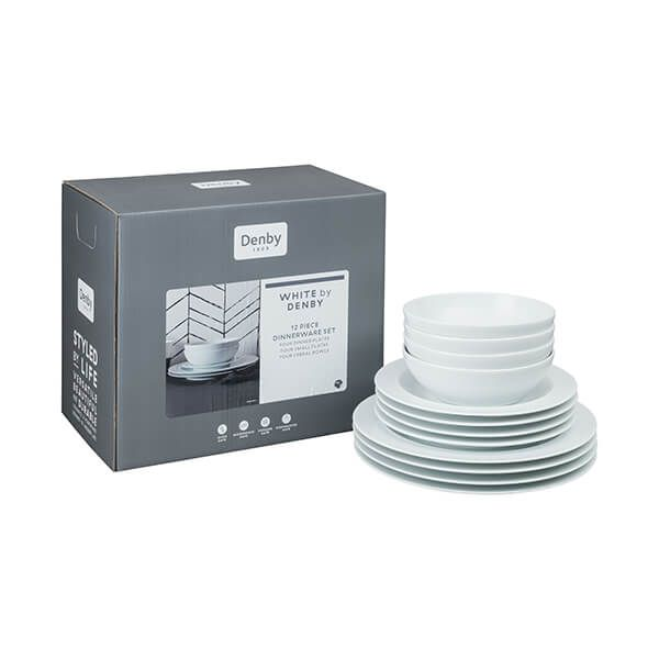 Denby White 12 Piece Tableware Set